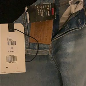 Levi high rise wedgie jeans.